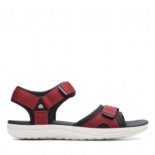 Clarks Mens Step Beat Sun Red Sandals